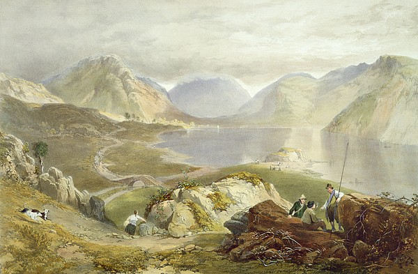 Wast Water, From The English Lake Print by James Baker Pyne