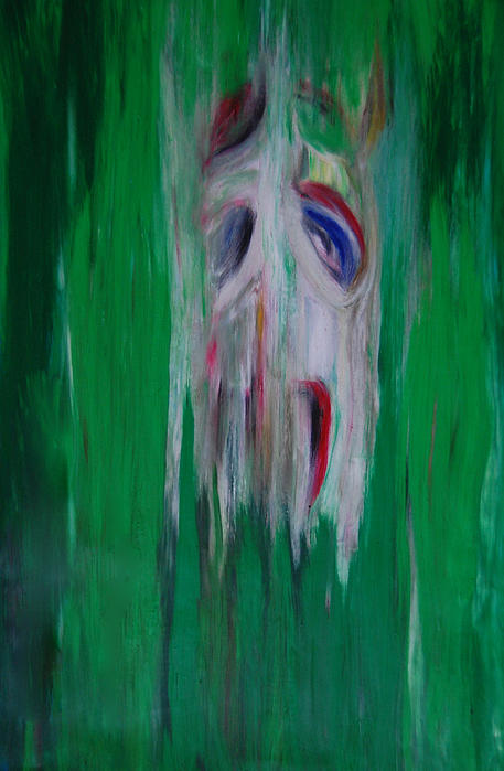 Watcher In The Green Print by First Star Art