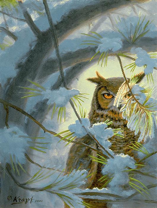Watchful Eye-owl Print by Paul Krapf