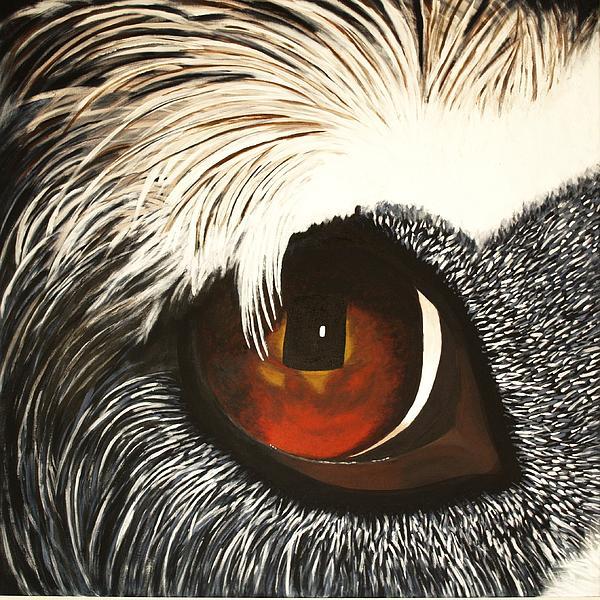 Watchful Print by Lisbet Damgaard