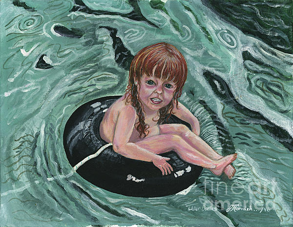 Water Babies Print by Janis  Cornish