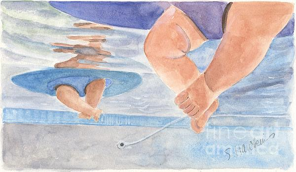 Water Babies Print by Sheryl Heatherly Hawkins