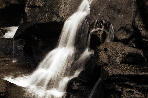 Water Flow Print by Les Cunliffe