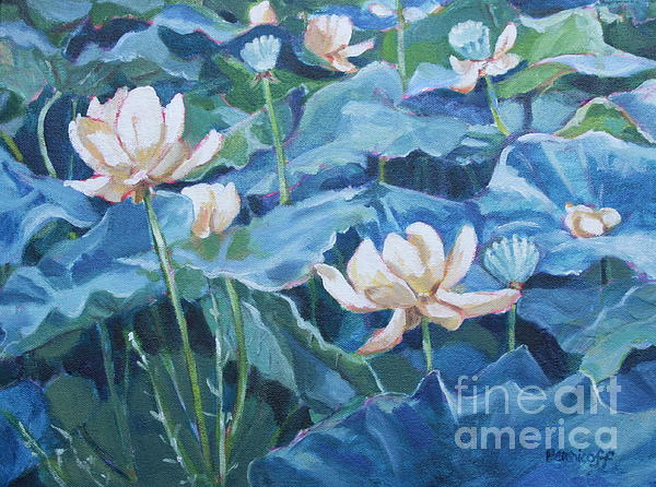 Jan Bennicoff - Water Lilies Two