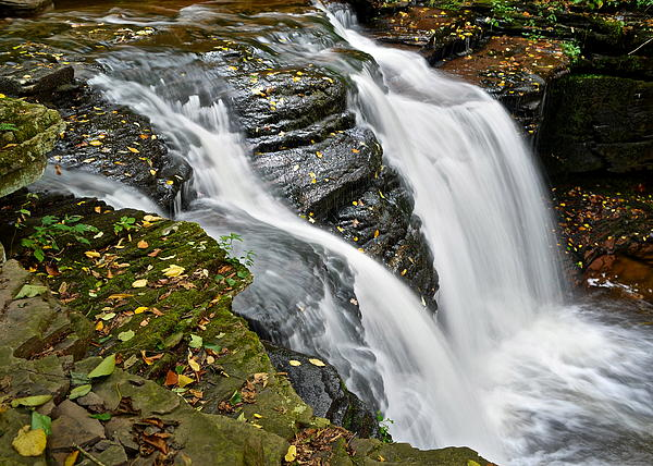 Water Rushes Forth Print by Frozen in Time Fine Art Photography