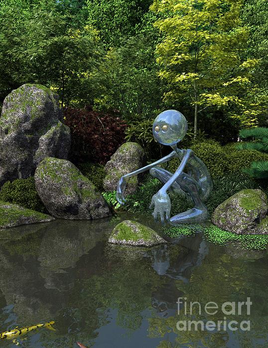 Water Spirit Print by Fairy Fantasies