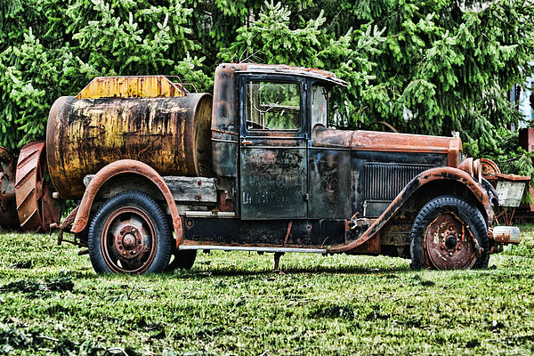 Water Truck Print by Ron Roberts