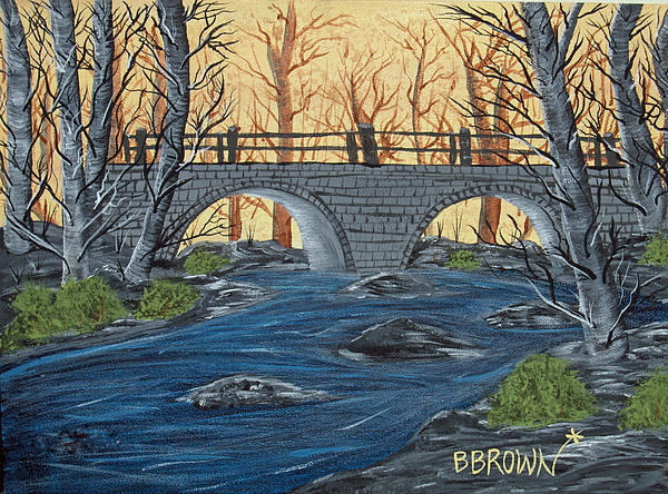 Water Under The Bridge Print by Brenda Brown