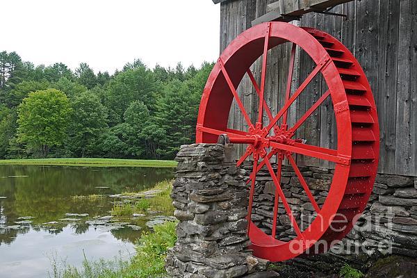 Water Wheel Vermont Print by Edward Fielding
