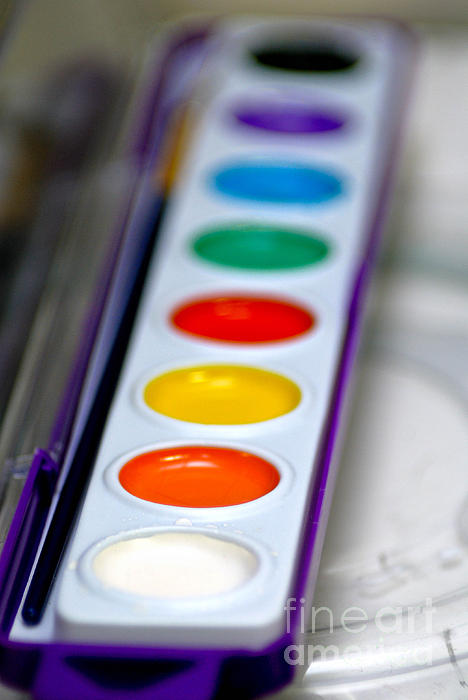 Watercolor Paint Set Print by Amy Cicconi