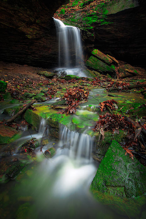 Waterfall 1  Print by Emmanuel Panagiotakis