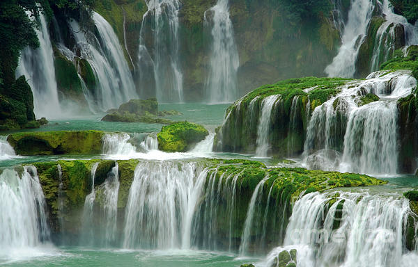 Charline Xia - Waterfall in Green