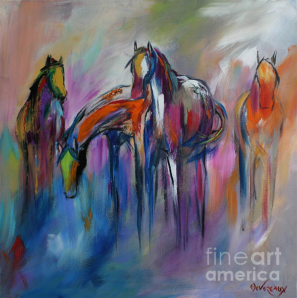 Watering Hole Print by Cher Devereaux
