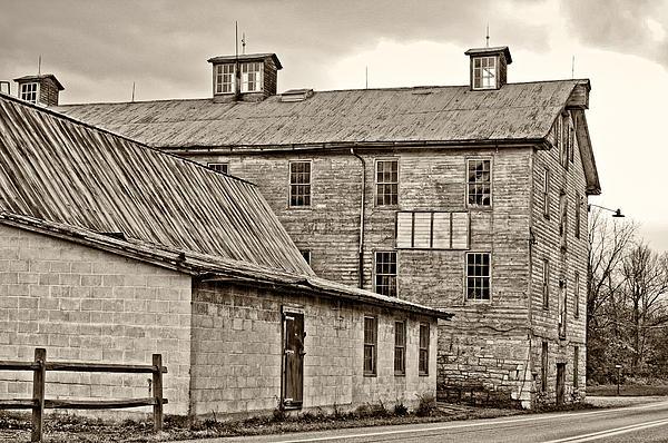 Waterside Woolen Mill Print by Steve Harrington