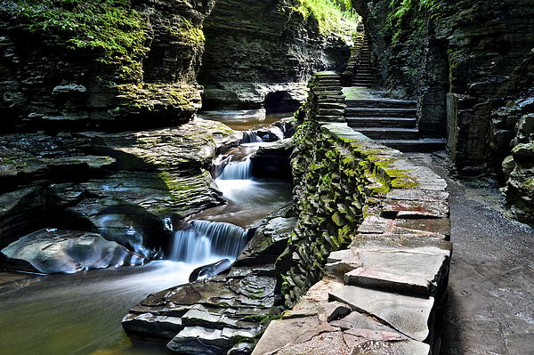 Watkins Glen State Park Print by Frozen in Time Fine Art Photography