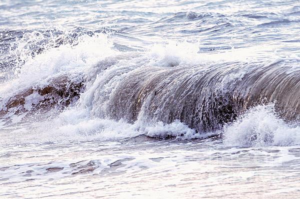 Wave In Stormy Ocean Print by Elena Elisseeva