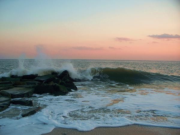 Eric  Schiabor - Waves At The Point West Cape May NJ