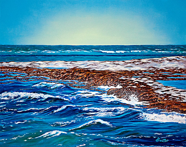 Waves Of Blue Print by Donna Proctor