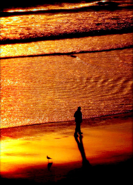 Waves Of Gold Print by Karen Wiles