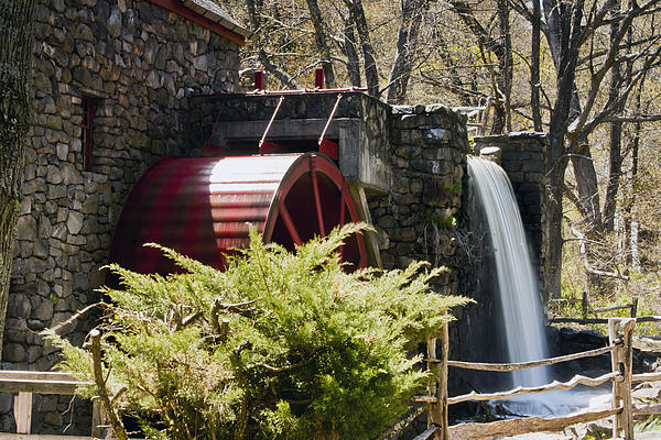 Wayside Grist Mill 3 Print by Dennis Coates