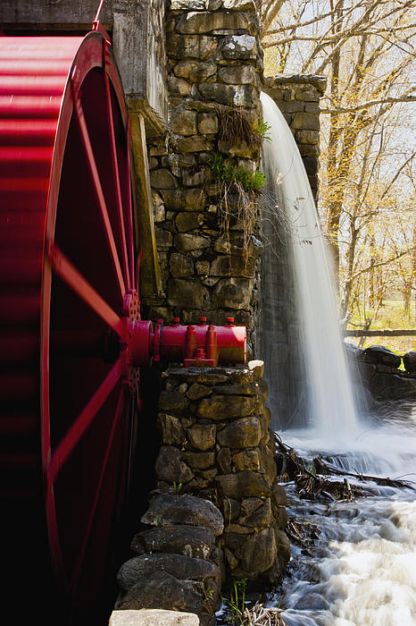 Wayside Grist Mill Print by Dennis Coates