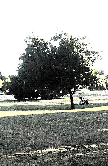 Wc Resting Tree Print by Nicki Bennett