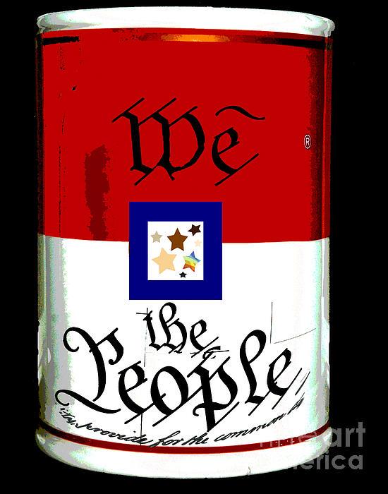 We The People Pop Art Print Print by AdSpice Studios