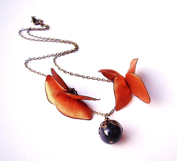 Wearable Art . Never Ending Love . One Of A Kind Necklace Print by Marianna Mills
