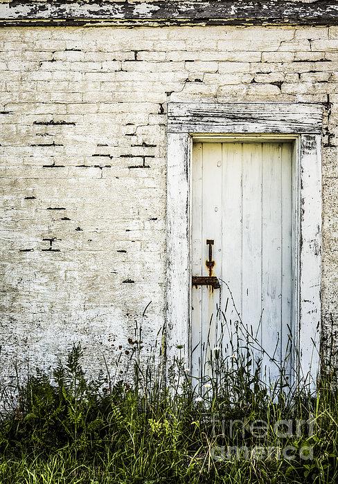 Weathered Door Print by Diane Diederich