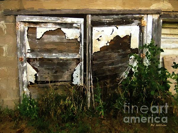Weathered In Weeds Print by RC DeWinter
