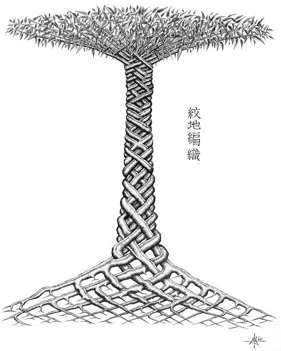 Weave Tree Print by Robert May