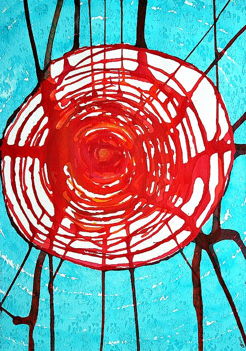 Web Of Life Original Painting Print by Sol Luckman