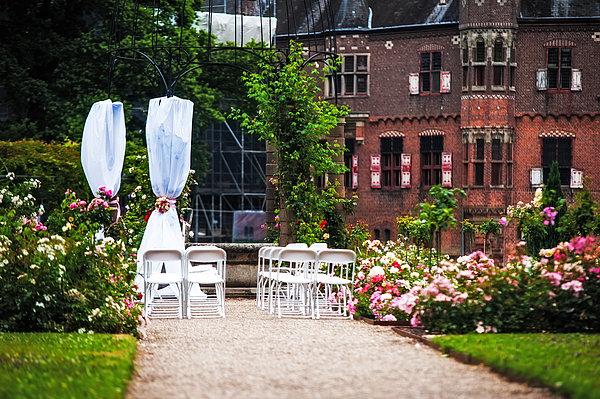 Wedding Arrangement In De Haar Castle. Utrecht Print by Jenny Rainbow
