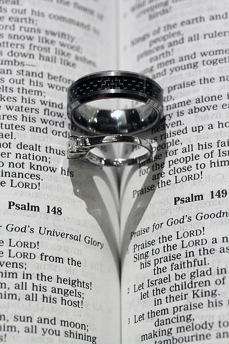 Wedding Ring Heart Print by Shoal Hollingsworth