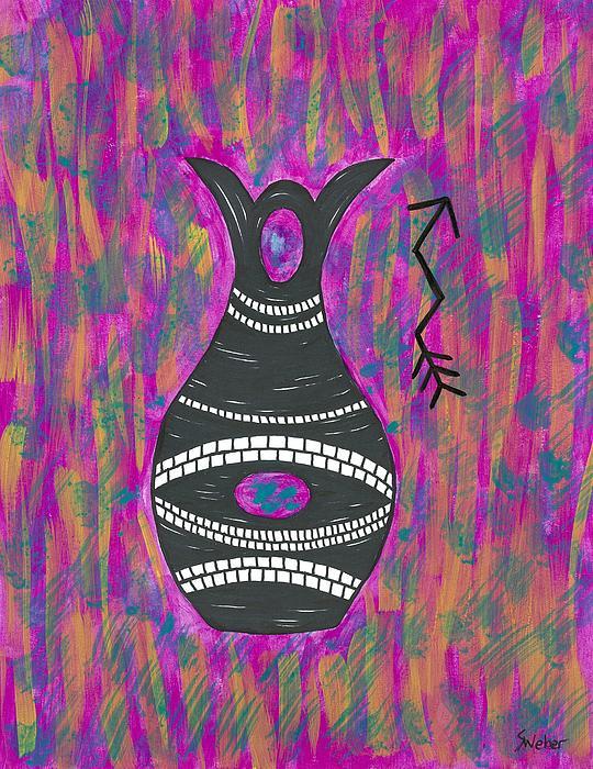 Wedding Vase Print by Susie WEBER