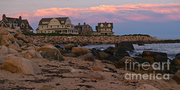 Weekapaug Ri Sunset Panorama Print by Anna Lisa Yoder