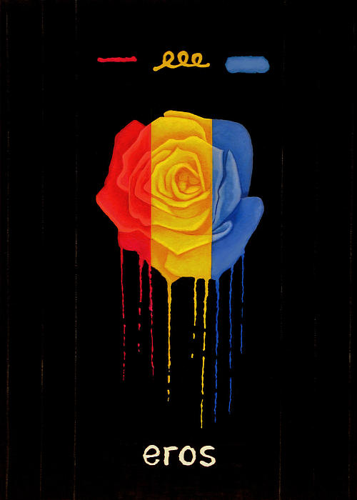 Weeping Rainbow Rose Print by Darrell Ross