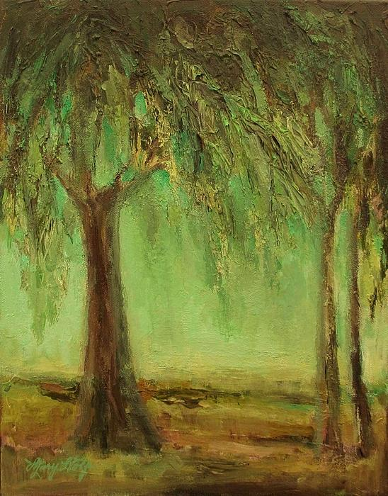 Weeping Willow Print by Mary Wolf