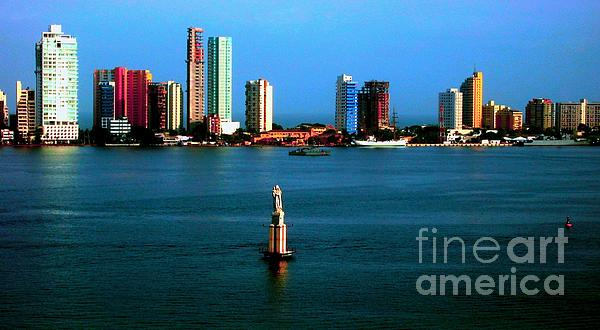 Welcome To Cartagena Colombia Print by Ann Johndro-Collins