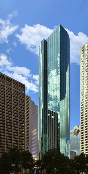 Wells Fargo Plaza Houston Tx Print by Christine Till