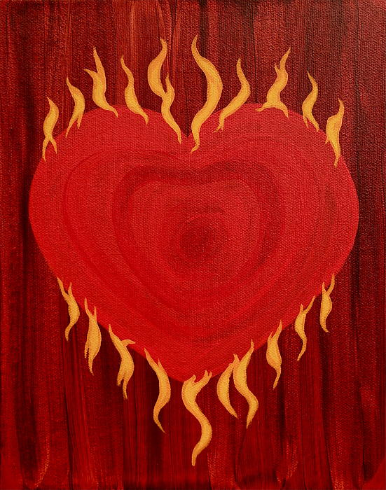 Were Not Our Hearts Burning Within Us Print by Michele Myers