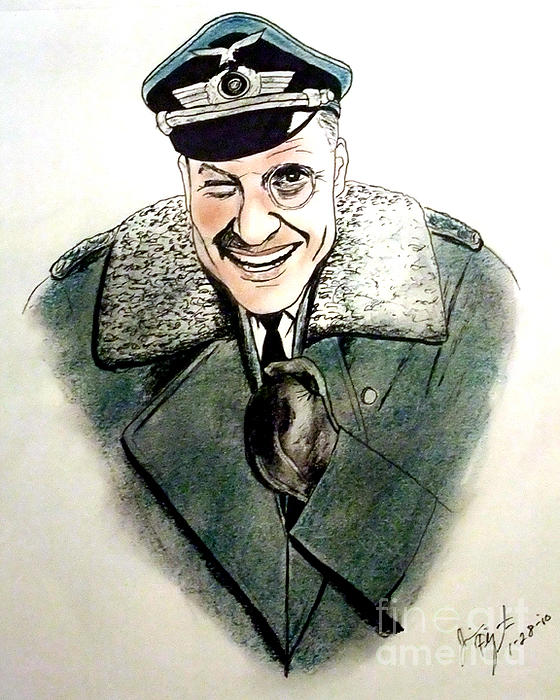 Werner Klemperer As Col Klink On Hogans Heroes   Print by Jim Fitzpatrick