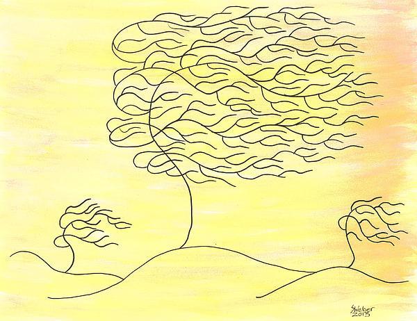 West Texas Wind Winter Print by Susie WEBER