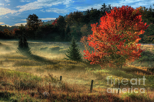 West Virginia Fall Sunrise I Print by Dan Carmichael