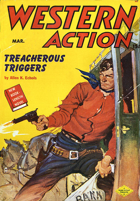Western Book Cover Art ~ Western action comic book cover by studio art