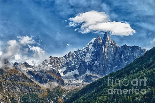 Western Alps In Chamonix Print by Juergen Klust