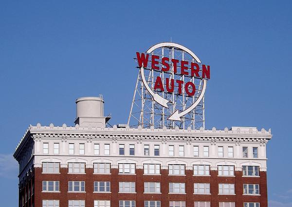 Western Auto Building Of Kansas City Missouri Print by Elizabeth Sullivan