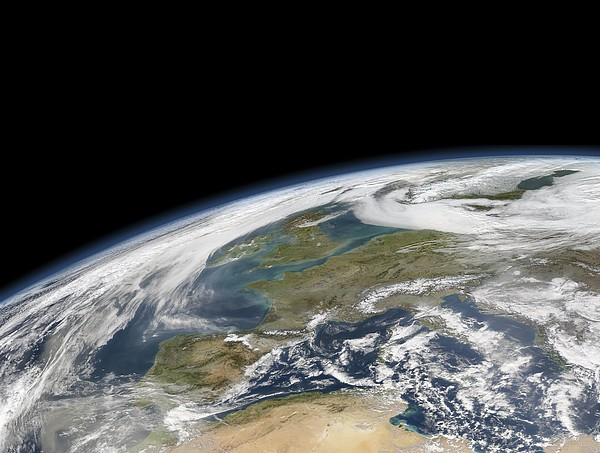 Western Europe, Satellite Image Print by Science Photo Library