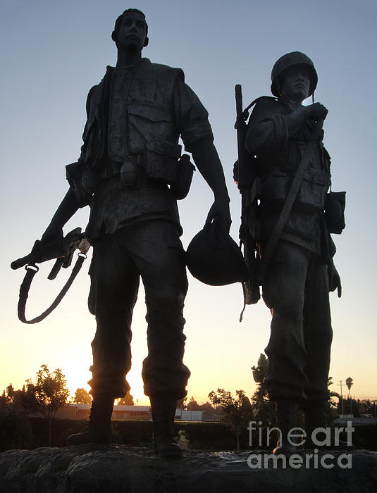Westminster California Vietnam War Memorial - 05 Print by Gregory Dyer