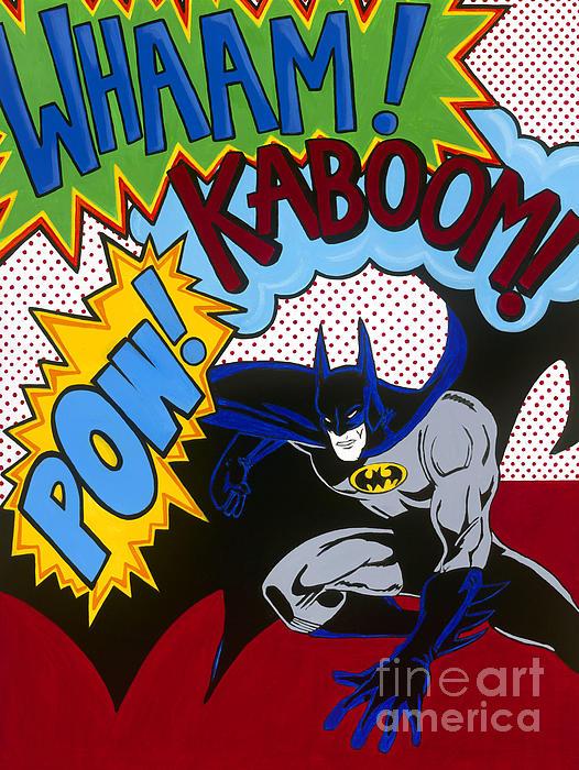 Whaam Kaboom Pow Batman Print by Carla Bank